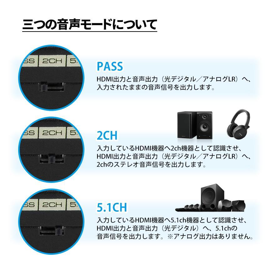 HDMI 音声分離器 分配器 光デジタル RCA 変換 コンバーター コンポジット 1080P 対応 アダプタ アナログ USB電源 送料無料|beebraxs|05