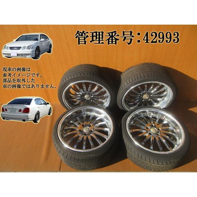 H10 アリスト JZS160/JZS161 235/35ZR19 社外 WEDS アルミホイール/タイヤホイール 4本セット