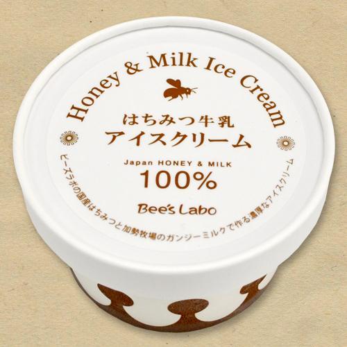 はちみつ牛乳アイスクリーム 90ml<12個入>【国産はちみつ100%】|beeslabo