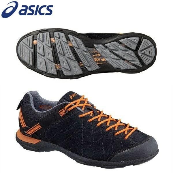 asics/アシックス 1131A018フィットネスウォーキングシューズTRAILメンズ フィールドウォーカー601 ブラック×ラーヴァオレンジ
