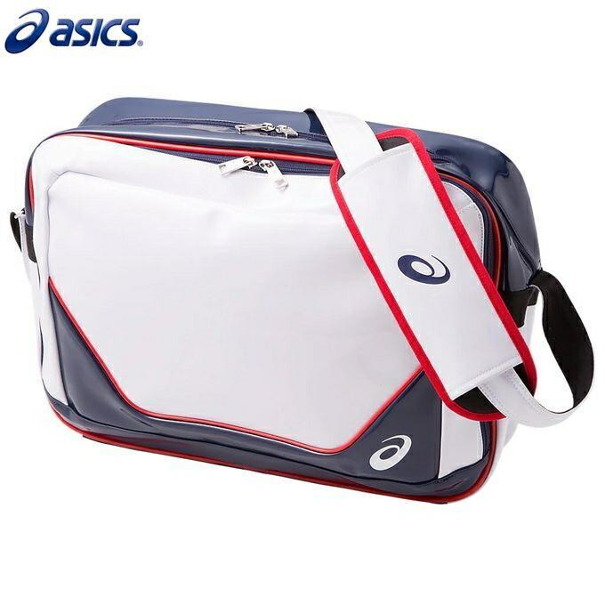 asics/アシックス 3033A190 トレーニング TRAINING ENAMEL バッグ エナメルショルダーバッグ26 ブリリアントホワイト