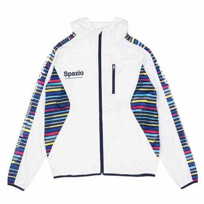 SPAZIO/スパッツィオ GE-0635 01 ホワイト JR.マルチボーダートレーニングパーカー トップス