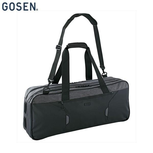 GOSEN/ゴーセン BA18TTB テニス バッグ トーナメントバッグ TOWNUSE/ラケット2本収納可 グレー BA18TTB