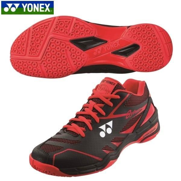 YONEX/ヨネックス SHB830MD バドミントン シューズ パワークッション830ミッド ブラック/レッド SHB830MD