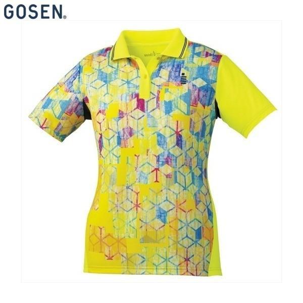 GOSEN/ゴーセン T1801 テニス・バドミントン ウェア(レディース) ゲームシャツ/レディース ネオンイエロー T1801