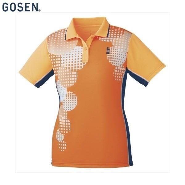 GOSEN/ゴーセン T1803 テニス・バドミントン ウェア(レディース) ゲームシャツ/レディース ネオンオレンジ T1803