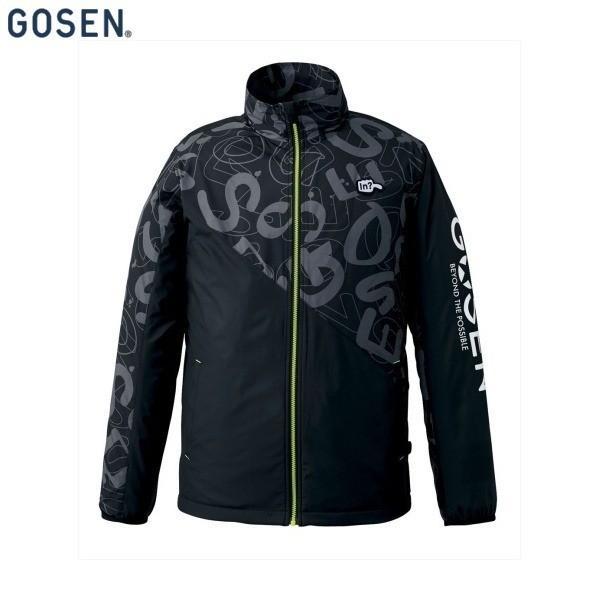 GOSEN/ゴーセン UY1700 テニス・バドミントン ウェア(メンズ/ユニ) ウィンドウォーマージャケット/裏起毛/ユニセックス ブラック UY1700