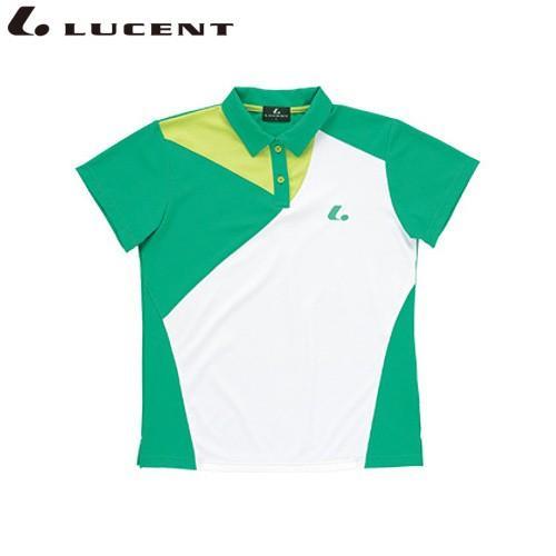 LUCENT/ルーセント XLP4665 テニス ウェア(レディース) Ladies ゲームシャツ マラカイトグリーン XLP4665