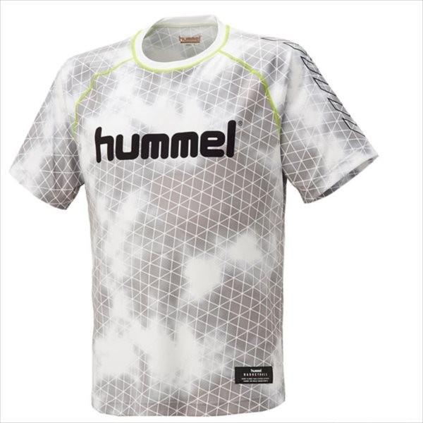 (代引不可)hummel(ヒュンメル) HAPB4016-10 バスケットボール昇華半袖Tシャツ HAPB4016