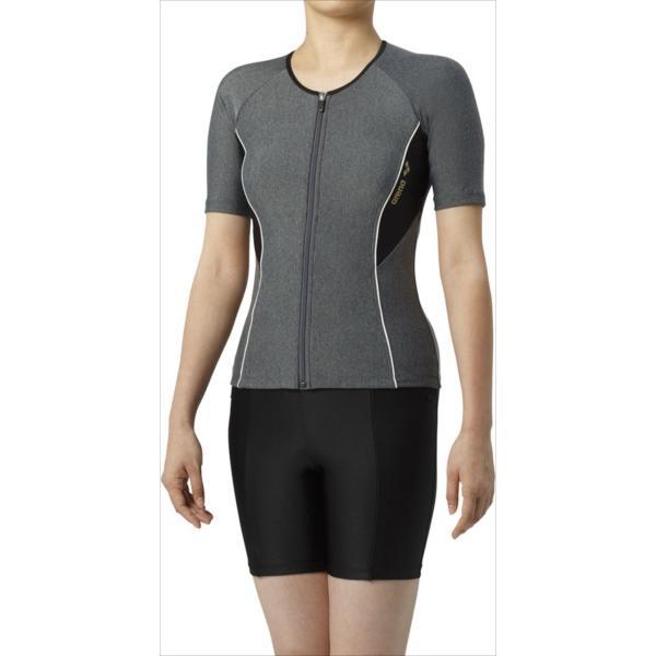 (代引不可) ARENA(アリーナ) LAR9242WE-MKBK 大きめカラースナップ付き袖付きセパレーツ(差し込みフィットパッド) スイム(水泳) LAR9242WE