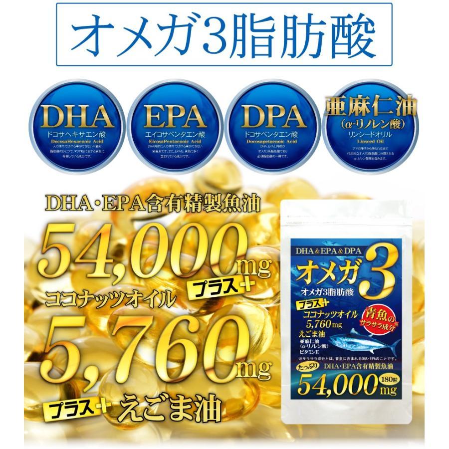 オメガ3 ココナッツオイル DHA EPA DPA サプリメント【送料無料】(約6ヵ月分/180粒)|beety|04