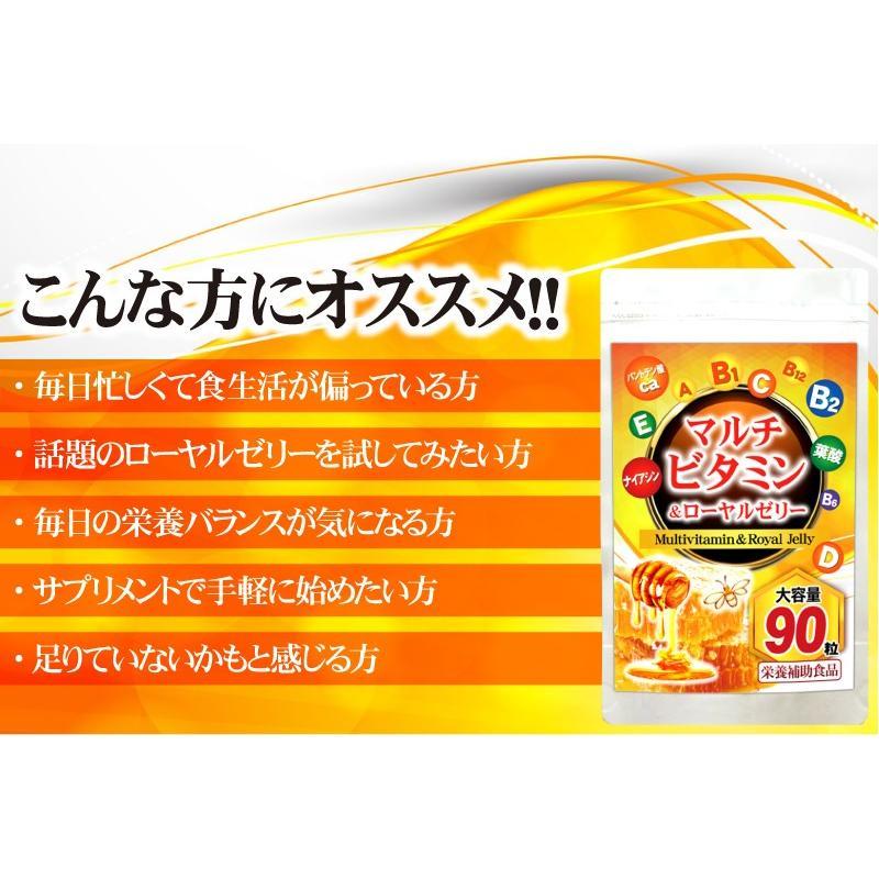 【送料無料】マルチビタミン サプリメント  ローヤルゼリー(約3ヵ月分/90粒入り)|beety|18