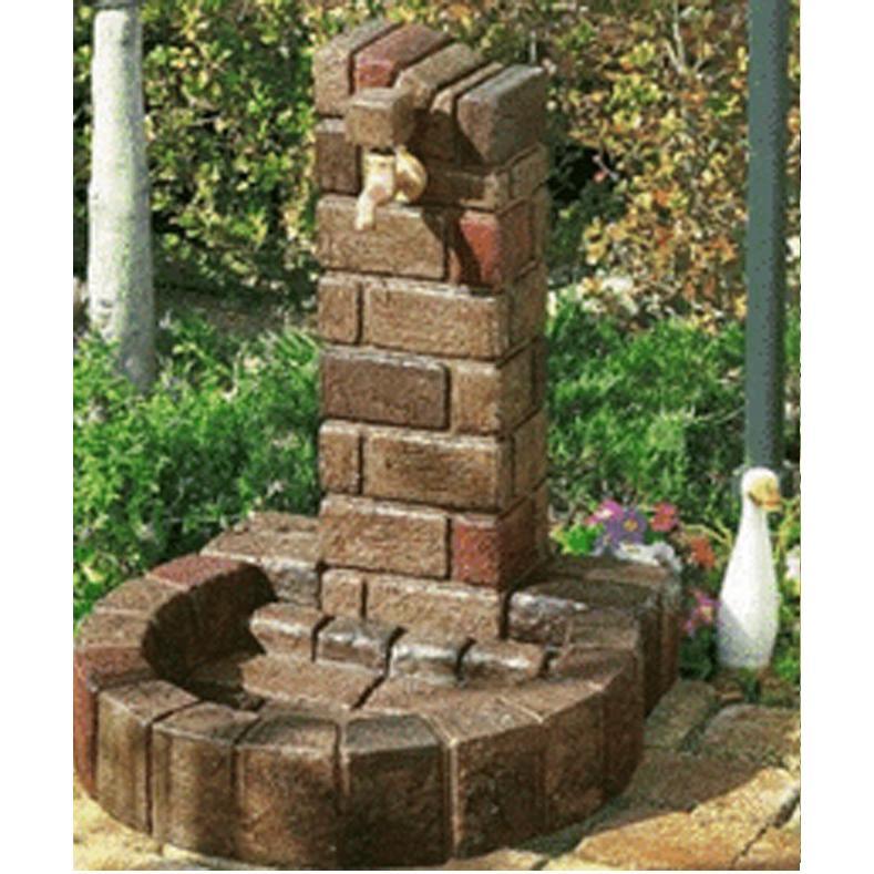水栓柱 立水栓セット 【ウォータービュー】 ブリックポールS+ブリック丸型パンS