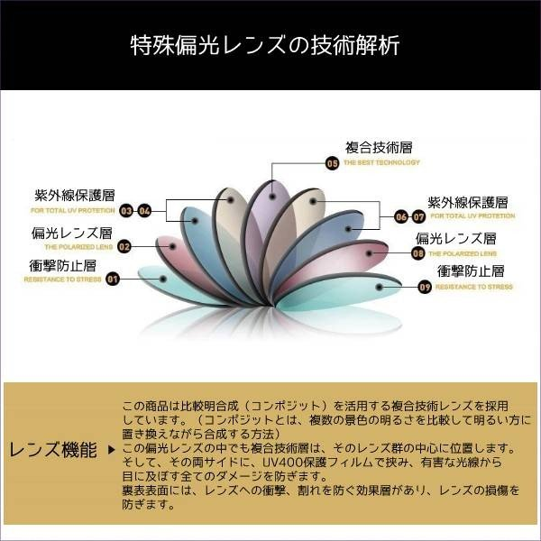 サングラス 偏光 UV400 機能的 ケース付き おしゃれ かっこいい かわいい デート 旅行 女子会 送料無料|befun|15