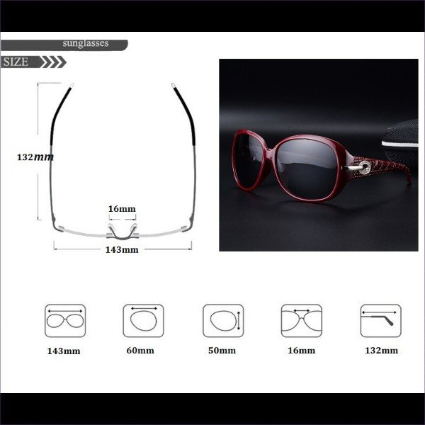 サングラス 偏光 UV400 機能的 ケース付き おしゃれ かっこいい かわいい デート 旅行 女子会 送料無料|befun|06