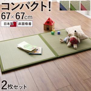 出し入れ簡単 床面吸着 軽量ユニット畳 Hanabishi ハナビシタイルカーペット2枚セット