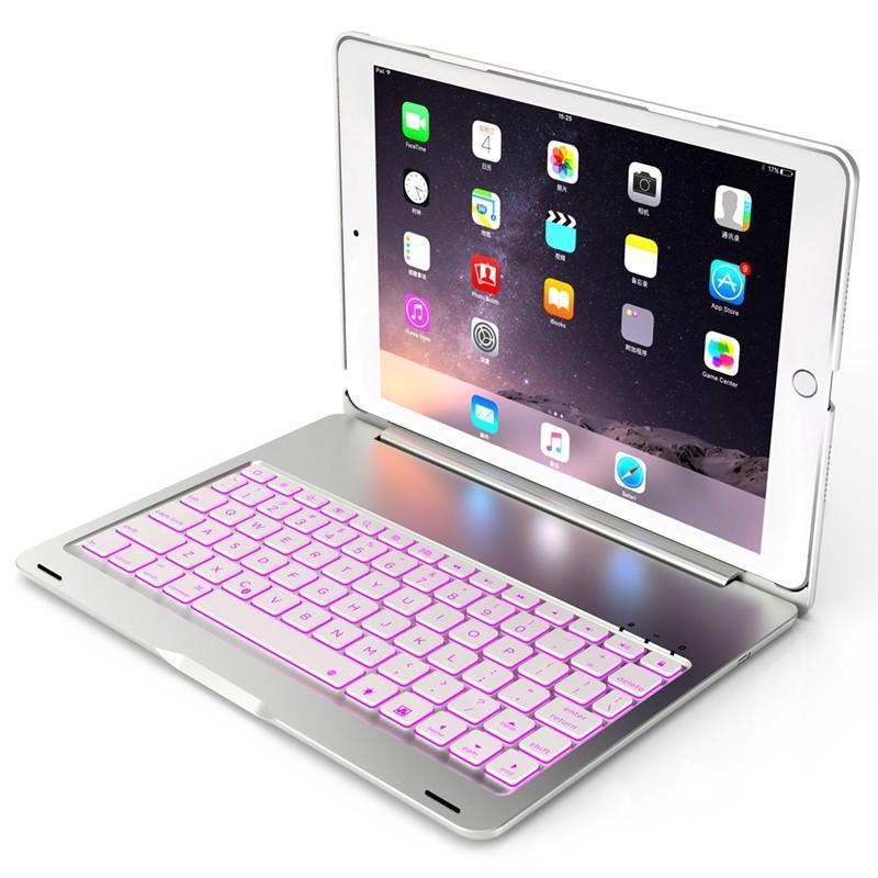 バックライト付き 2020/2019 新型 iPad8 iPad7 10.2 インチ キーボード ケース アイパッド8 Bluetooth キーボード カバー アルミ 一体型|beineix-store