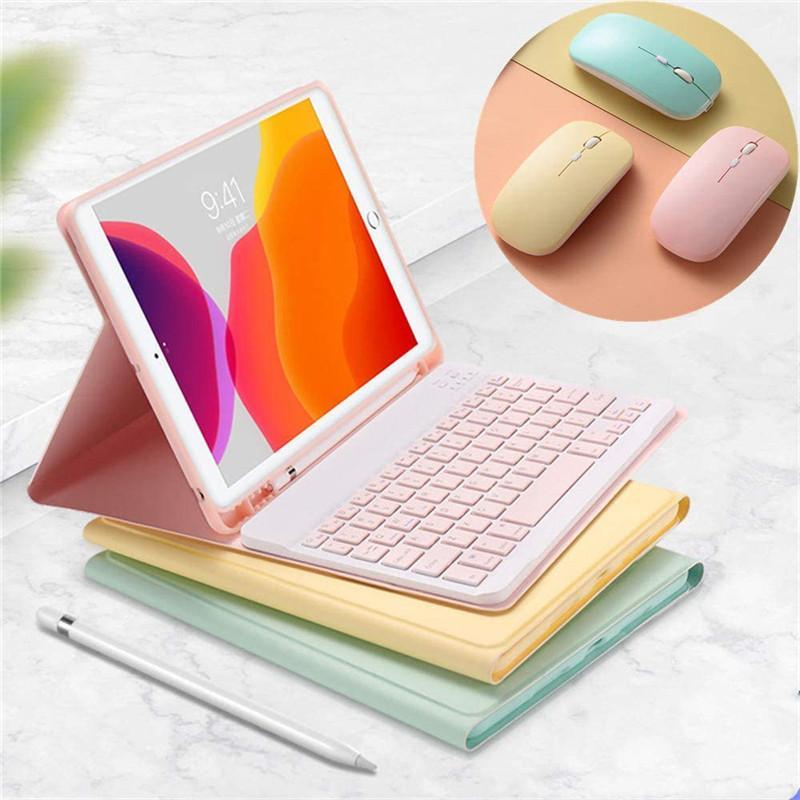 マウス付き アイパッド iPad 10.2 10.9 人気 おすすめ Pro 9.7 10.5 11 インチ キーボード 送料無料お手入れ要らず ケース 8 5 Air カバー 3 キーボード付き ペンホルダー 6 7 4 可愛い Mini