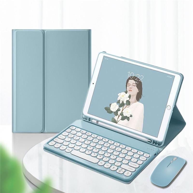 4年保証 ワイヤレスマウス付き iPad 8 7 6 5 Air 4 3 2 Pro 9.7 カラフル 11 10.9 丸型キー 10.5 スピード対応 全国送料無料 アイパッド 可愛い レディース 10.2 キーボードカバー キーボードケース