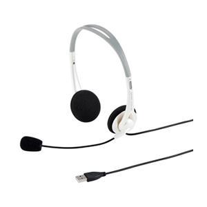 サンワサプライ USBヘッドセット(ホワイト) MM-HSUSB16W|beisiadenki