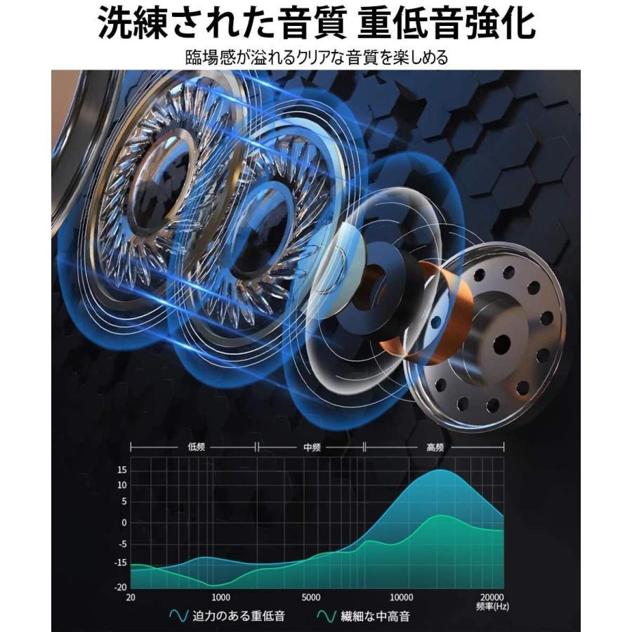 イヤホン 有線 高音質 カナル型 マイク内蔵 ステレオイヤフォン インナーイヤー型 音漏れ防止 リモコン付き/ワンボタン操作 3.5mm メッキプラグ 送料無料(x2)|belando|03