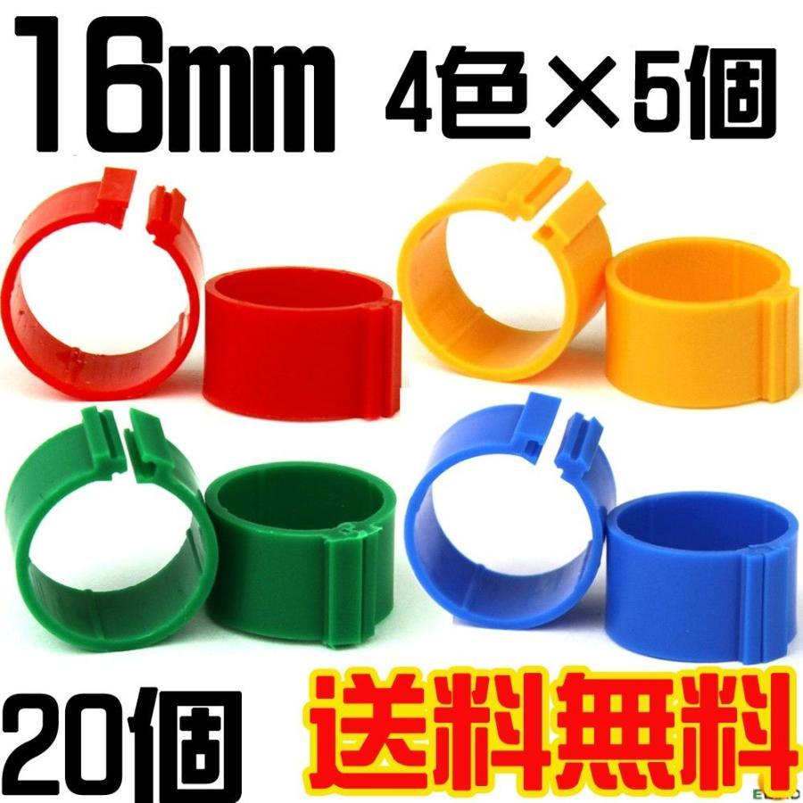 送料無料 識別環 ニワトリ 即納 4色20個入り メール便対応代引き不可 当店は最高な サービスを提供します 大型キジ類用割り環16mm