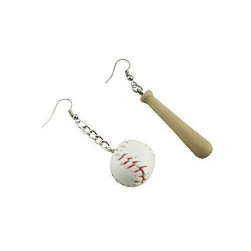 naissant かわいい バット & ボール 型 ピアス 野球 ベースボール 応援 観戦 グッズ|belief-storehonten
