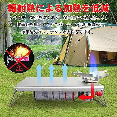 Keepjoy イワタニ ジュニアコンパクトバーナー 遮熱板 テーブル CB-JCB 専用 高強度アルミニウム合金製 折畳式 専?|bell-honpo|05