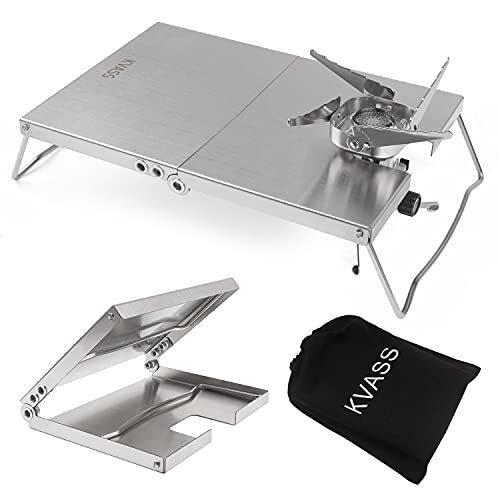 KVASS イワタニ ジュニアコンパクトバーナー CB-JCB 専用 遮熱板 テーブル ステンレス 折り畳み式 遮熱テーブル ?|bell-honpo|02