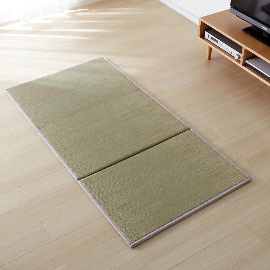 置きたたみ 畳 ラグ 1畳サイズ ナチュラル 1枚 3つ折り おしゃれ コンパクト すべりにくい加工 軽い 置き畳|bellemaison-interior