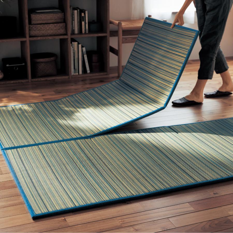 置きたたみ 畳 ラグ 1畳サイズ ナチュラル 1枚 3つ折り おしゃれ コンパクト すべりにくい加工 軽い 置き畳|bellemaison-interior|02
