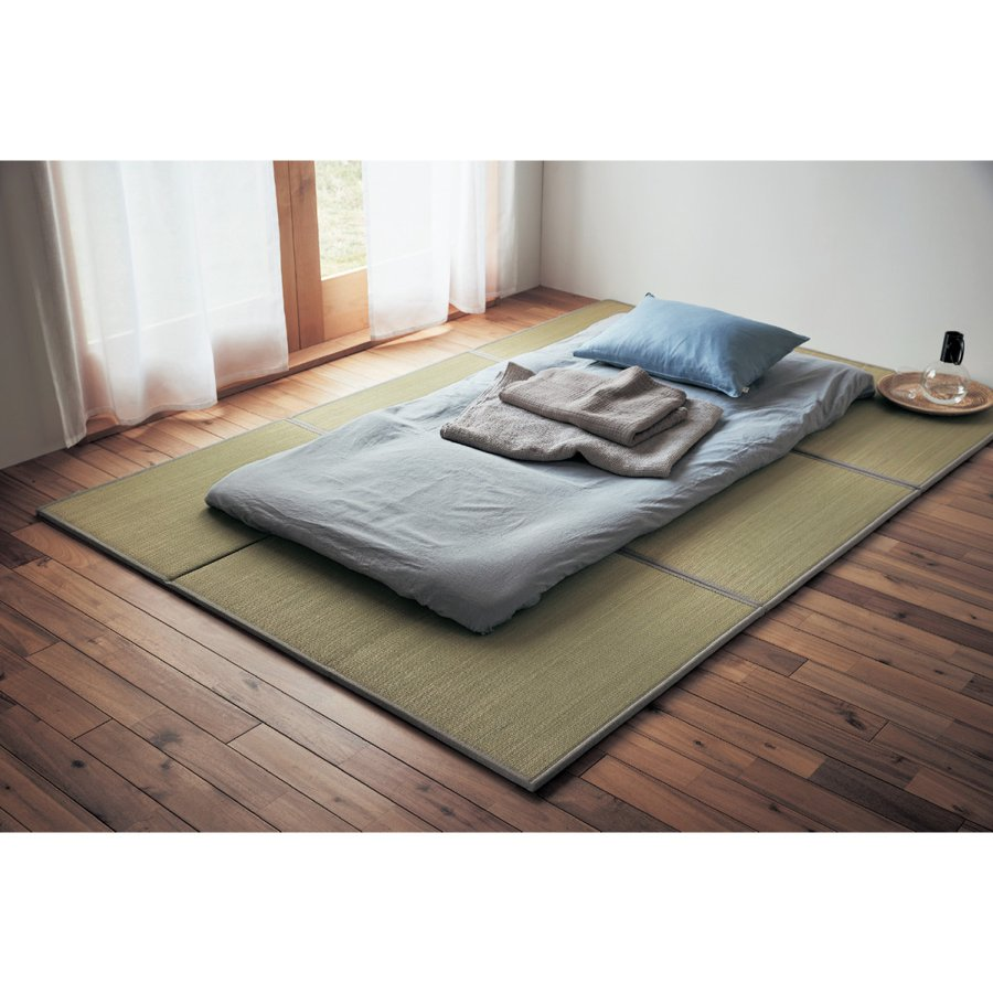 置きたたみ 畳 ラグ 1畳サイズ ナチュラル 1枚 3つ折り おしゃれ コンパクト すべりにくい加工 軽い 置き畳|bellemaison-interior|04