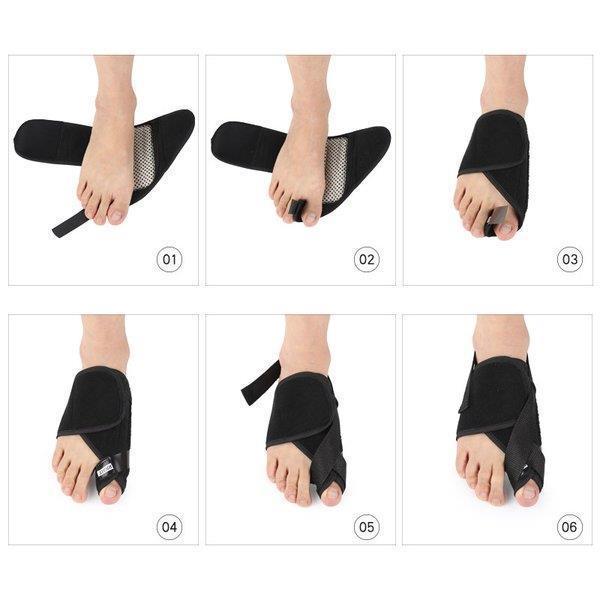 外反母趾 サポーター ソックス 足 保護 ケア用品 左右セット  足指 痛み 軽減 メンズ レディース 男女 兼用 つらい外反母趾対策足の痛みに|bellflowers|05