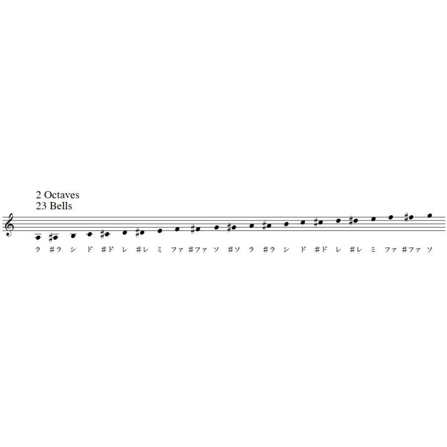 ハンドベル レンタル 4週間 シルバー ウチダ ミュージックベル MB-S 23音 ハンドベル初心者むき 買うより安いレンタルセット 往路送料無料 bellmintshop 06