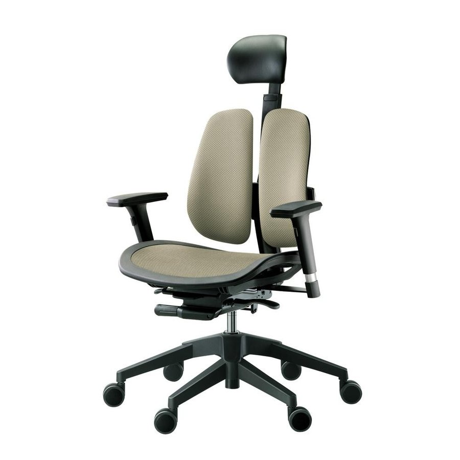 回転椅子 α60H (MESH 褐色)(家具 イス テーブル)