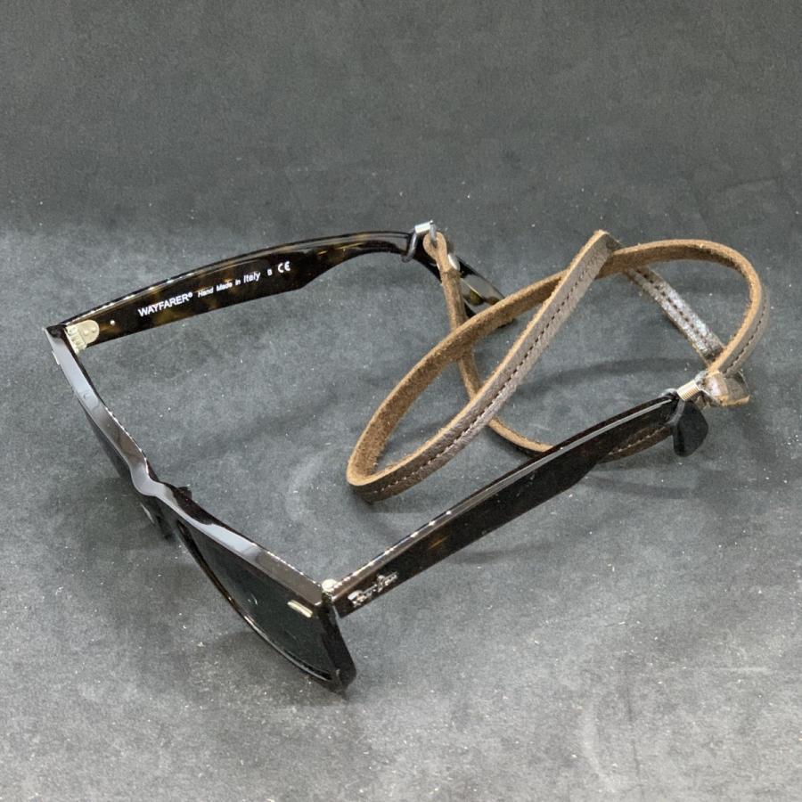 【新色追加しました】 メガネチェーン 眼鏡チェーン メガネストラップ グラスコード メンズ レディース 男女兼用 シンプル 本革 クーズー クドゥー希少 英国製|beltokuda|22