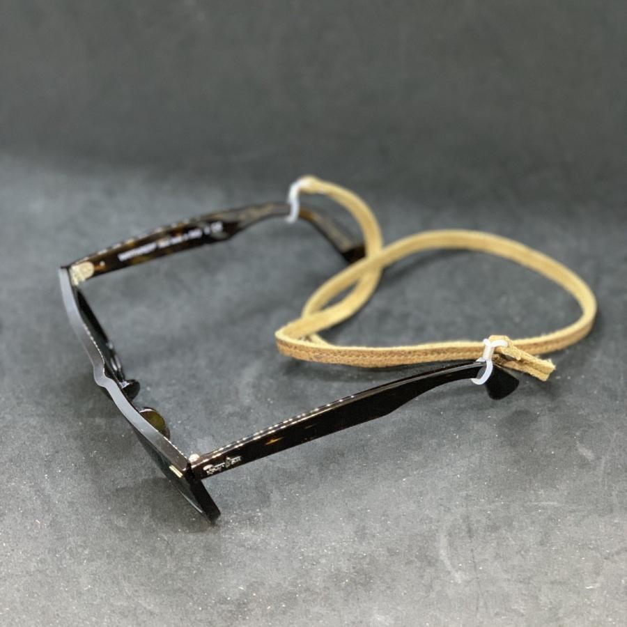 【新色追加しました】 メガネチェーン 眼鏡チェーン メガネストラップ グラスコード メンズ レディース 男女兼用 シンプル 本革 クーズー クドゥー希少 英国製|beltokuda|10