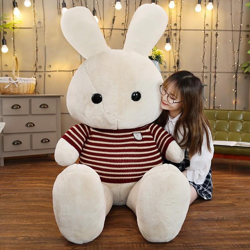 ウサギ ぬいぐるみ うさぎ 大きい 抱き枕 かわいい 添い寝 彼女 誕生日プレゼント 130cm