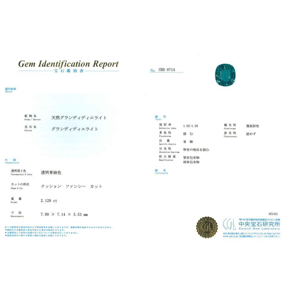 CGL鑑別付 超稀少石 グランディディエライト 2.128ct クッションカット 限定1個 製品オーダー可能|benebene|05