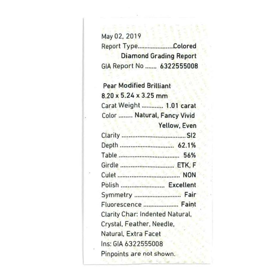 ☆イエローダイヤモンド 1.01ct 1個限定 製品オーダー可能 誕生日4月 benebene 04