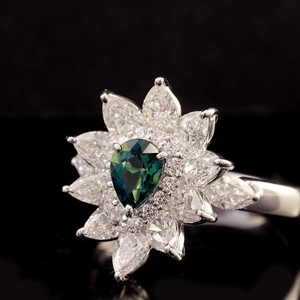 『2年保証』 リング 指輪 レディース 稀少石 Pt900 0.529ctグランディディエライト ダイヤモンド リング #13 サイズ変更承ります 誕生石 4月, オオガキシ 1e09d488