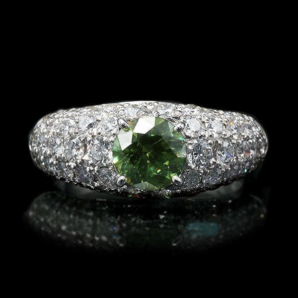 リング 指輪 限定1本 PT900 1.14ctデマントイドガーネット ダイヤモンドリング 12号  限定マルシェ  #12 誕生石4月1月 サイズ変更承ります|benebene|02