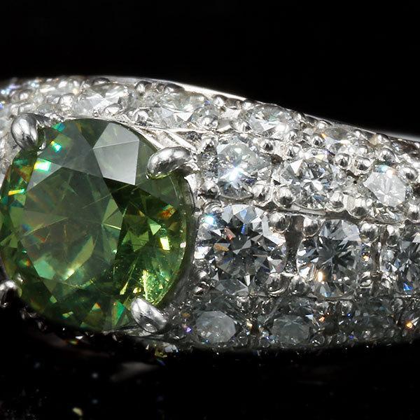 リング 指輪 限定1本 PT900 1.14ctデマントイドガーネット ダイヤモンドリング 12号  限定マルシェ  #12 誕生石4月1月 サイズ変更承ります|benebene|03