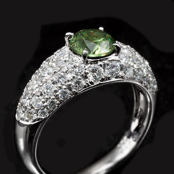 リング 指輪 限定1本 PT900 1.14ctデマントイドガーネット ダイヤモンドリング 12号  限定マルシェ  #12 誕生石4月1月 サイズ変更承ります|benebene|04