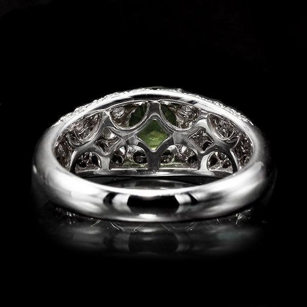リング 指輪 限定1本 PT900 1.14ctデマントイドガーネット ダイヤモンドリング 12号  限定マルシェ  #12 誕生石4月1月 サイズ変更承ります|benebene|05