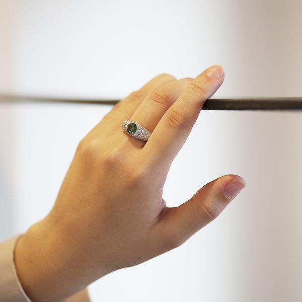 リング 指輪 限定1本 PT900 1.14ctデマントイドガーネット ダイヤモンドリング 12号  限定マルシェ  #12 誕生石4月1月 サイズ変更承ります|benebene|06