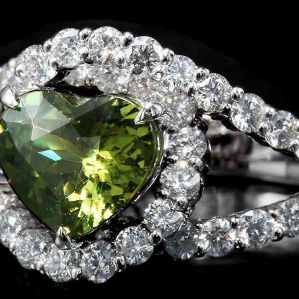 リング 指輪 限定1本 PT900 1.79ctハートのデマントイドガーネット ダイヤモンドリング 11号 限定マルシェ  #11 誕生石4月1月 サイズ変更承ります|benebene|03