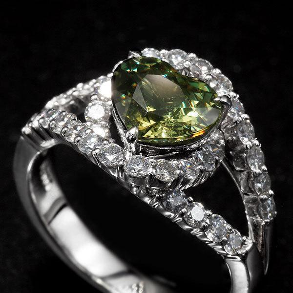 リング 指輪 限定1本 PT900 1.79ctハートのデマントイドガーネット ダイヤモンドリング 11号 限定マルシェ  #11 誕生石4月1月 サイズ変更承ります|benebene|04