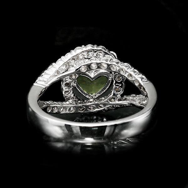 リング 指輪 限定1本 PT900 1.79ctハートのデマントイドガーネット ダイヤモンドリング 11号 限定マルシェ  #11 誕生石4月1月 サイズ変更承ります benebene 05
