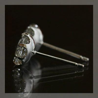 ピアス レディース プラチナ900製 5.5ミリの贅沢な輝き ローズカット アンティークデザインピアス benebene 04